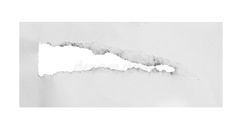 Rivit sönder och sönderrivet papper arkivbild