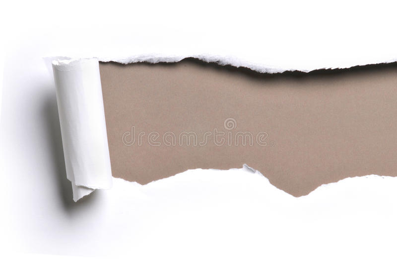 rivit sönder papper royaltyfri foto