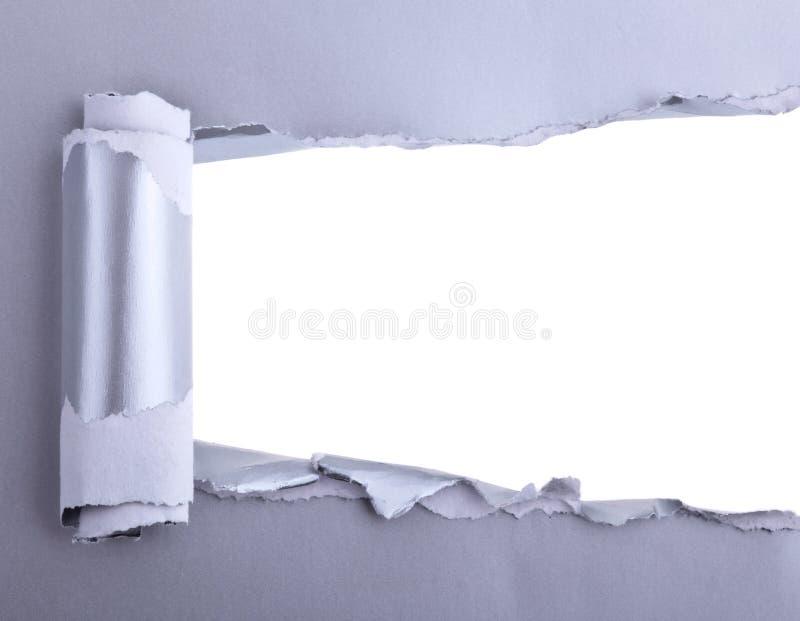 rivit sönder papper arkivbild