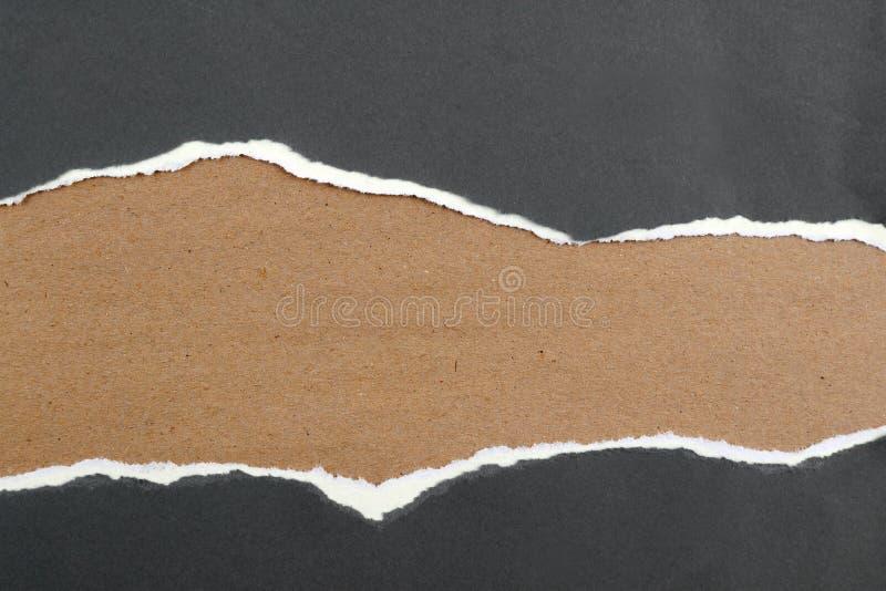 rivit sönder papper royaltyfri fotografi