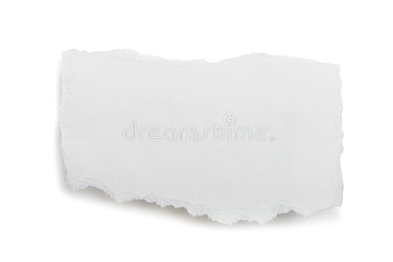 Rivit sönder stycke av papper royaltyfri foto