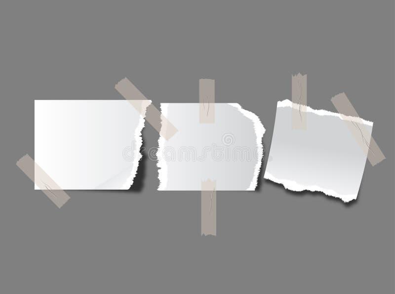rivna paper stycken royaltyfri illustrationer
