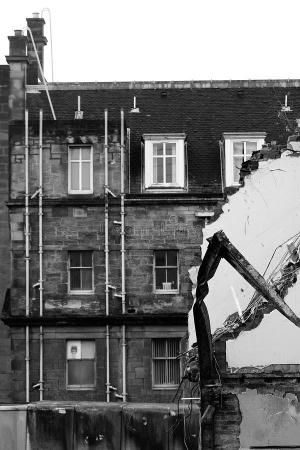 Rivning och förstörelse av arkitektur royaltyfria foton