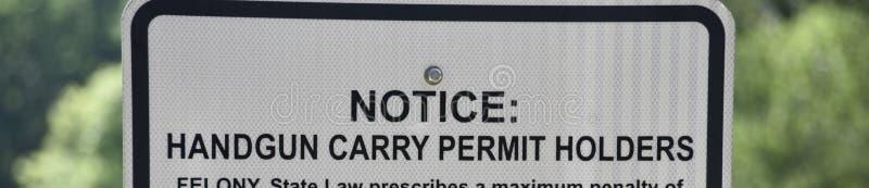 Rivoltella Carry Permit Holder fotografia stock libera da diritti