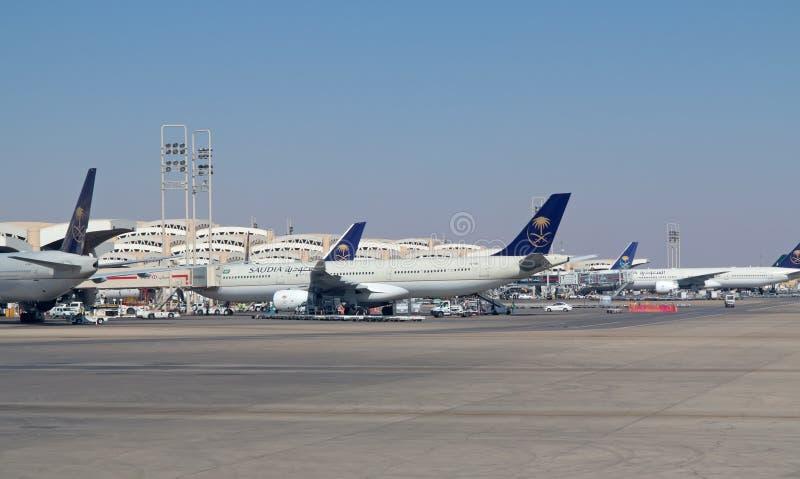 Riyadh flygplats royaltyfri foto
