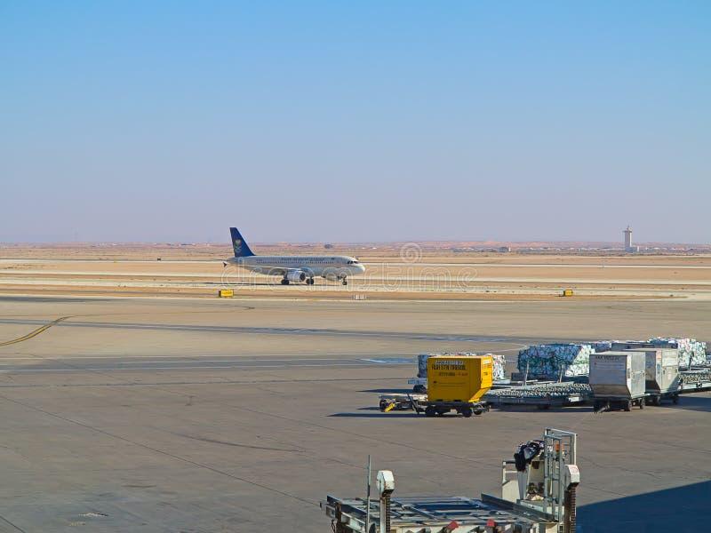 Riyadh flygplats royaltyfri bild