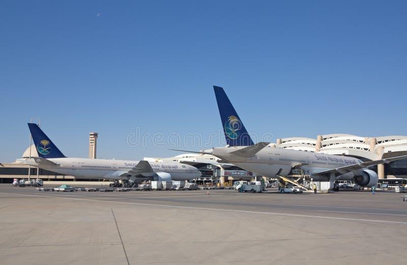 Riyadh flygplats royaltyfri fotografi