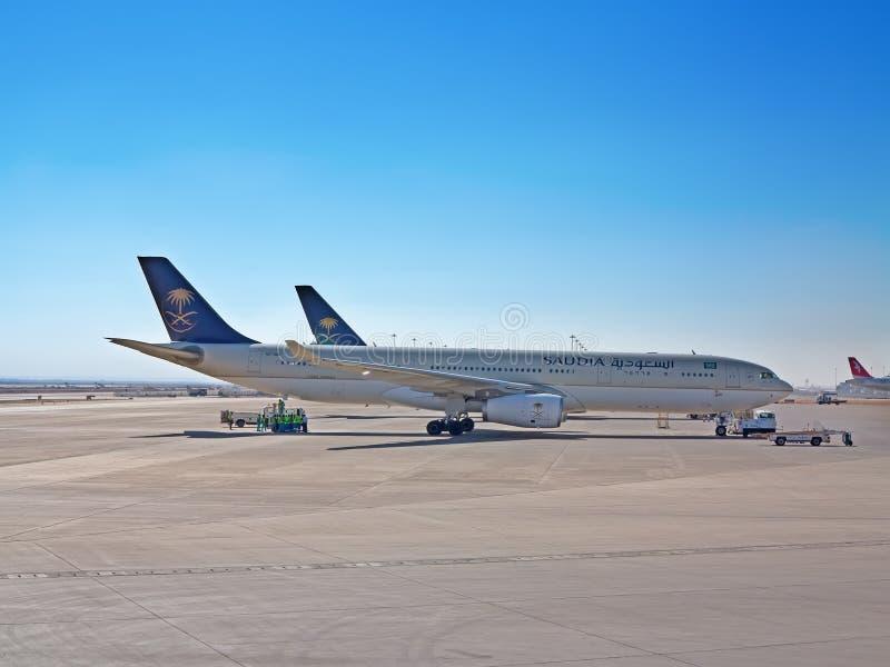 Riyadh flygplats arkivbild