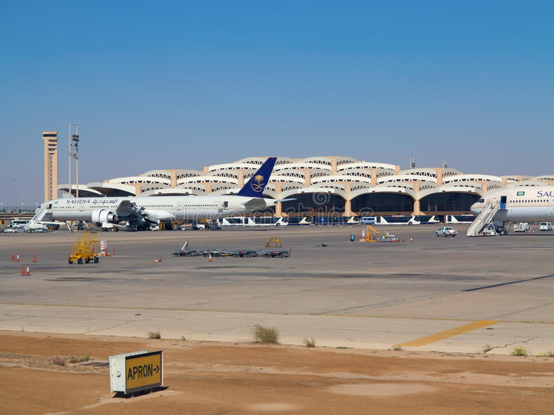 Riyadh flygplats arkivfoto