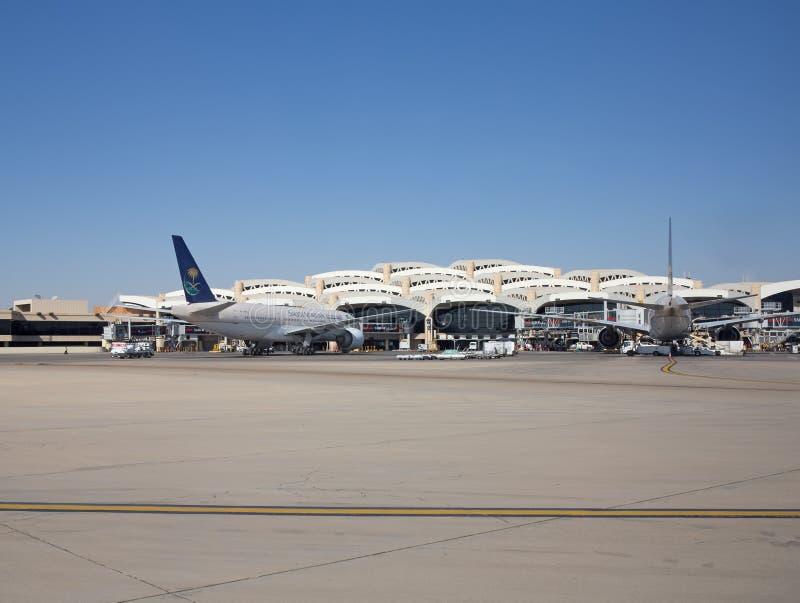 Riyadh luchthaven royalty-vrije stock foto