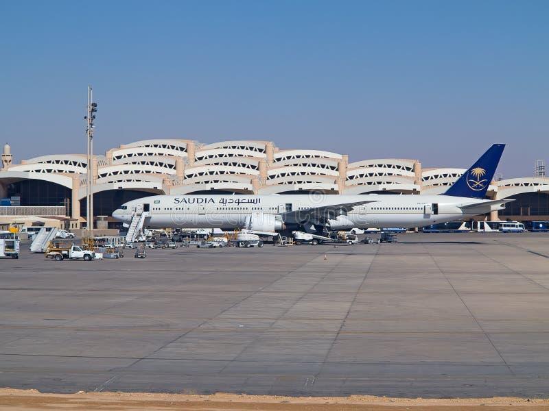 Riyadh luchthaven stock afbeeldingen