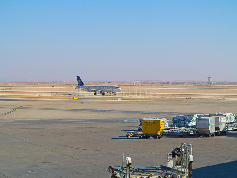 Riyadh luchthaven royalty-vrije stock afbeelding