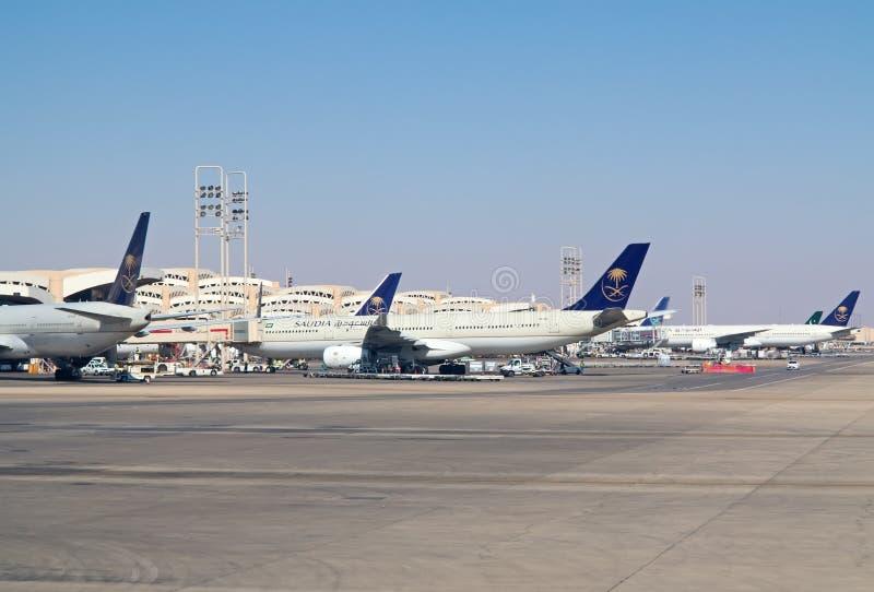 Riyadh luchthaven royalty-vrije stock fotografie
