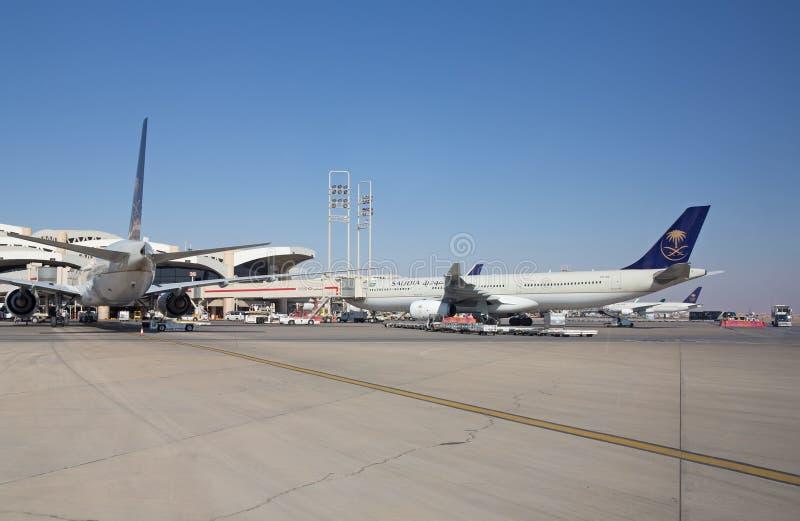 Riyadh luchthaven stock afbeelding