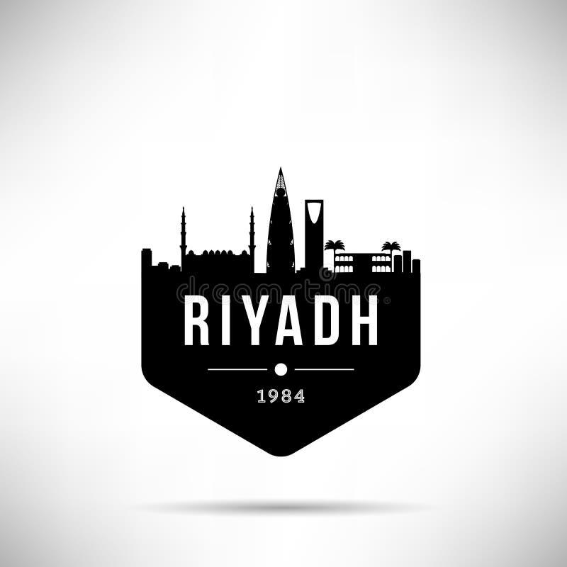 Riyadh Modern Horizon Vectormalplaatje stock illustratie
