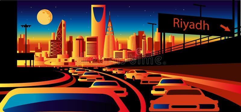 Riyadh Saudi-Arabië horizon stock illustratie