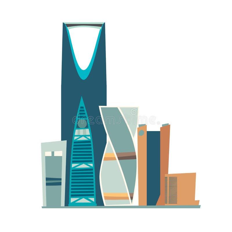 Riyadh Saudi-Arabi? horizon vectorillustratie royalty-vrije illustratie