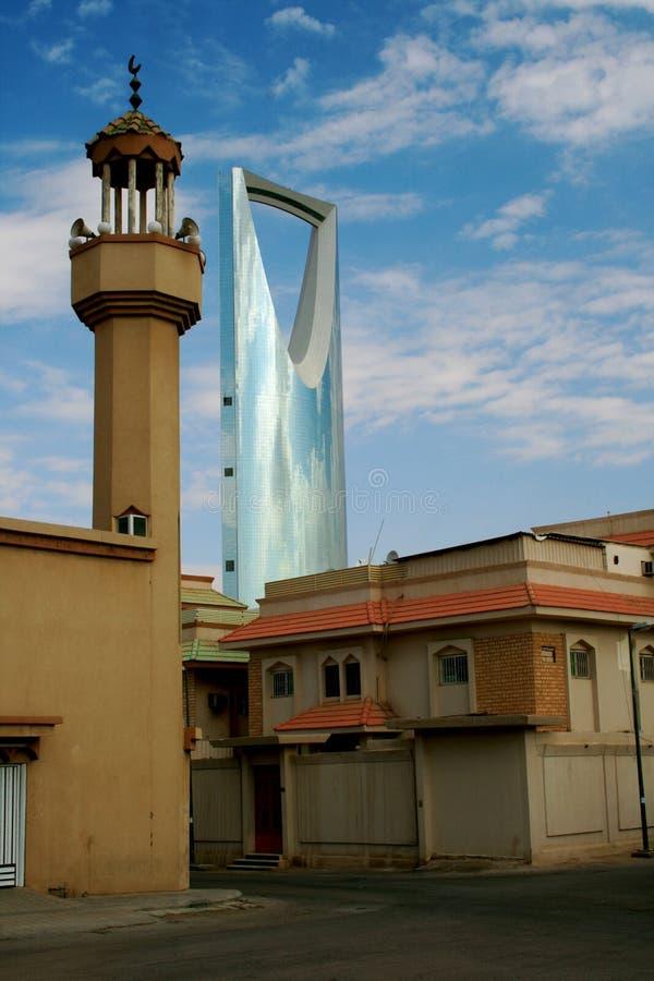 Riyadh - Saudi Arabia. Contrasting architecture in Riyadh, Saudi Arabia royalty free stock photo