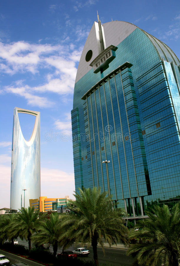 Riyadh - Saudi Arabia. Skyscrapers in Riyadh, Saudi Arabia royalty free stock photos