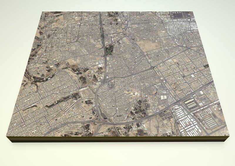 Riyadh streets and buildings 3d map, Saudi Arabia vector illustration