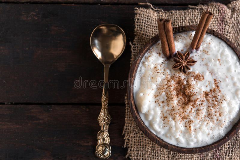 Riz au lait crémeux photos stock