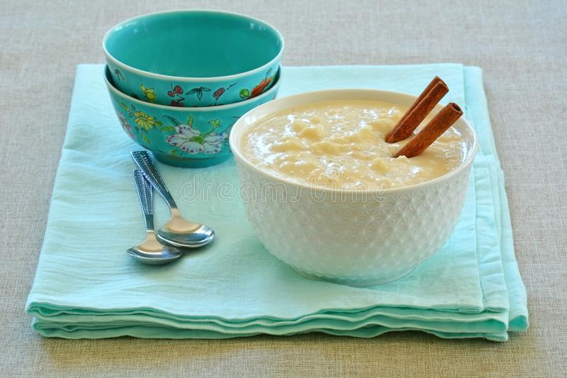 Riz au lait crémeux image stock