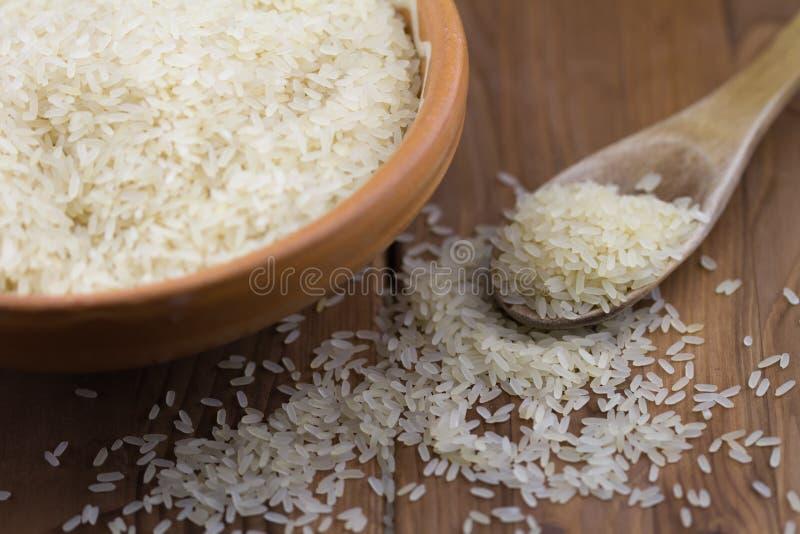Riz blanc sur la table image libre de droits
