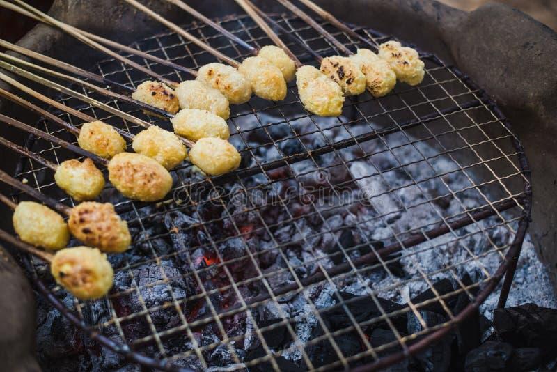 Riz collant grillé du nord thaïlandais photo libre de droits