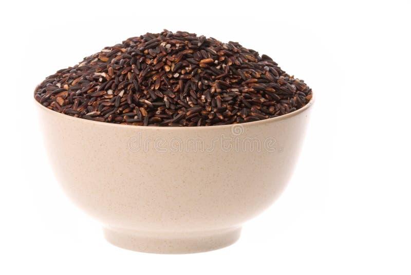riz d'isolement visqueux noir photographie stock libre de droits