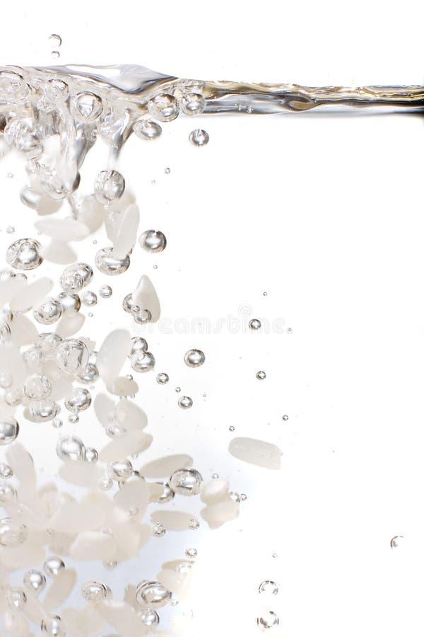 Riz dans l'eau photographie stock