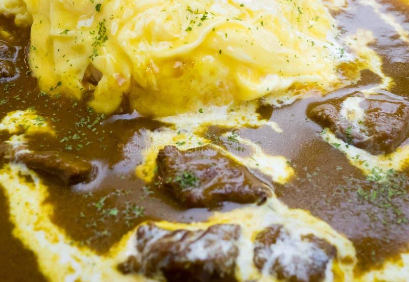Download Riz De Boeuf De Cari Avec L'oeuf Brouillé D'omelette Photo stock - Image du cuisine, dîner: 77160064