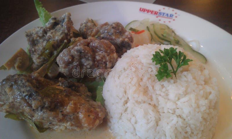 Riz de poulet de beurre d'Upperstar photos stock