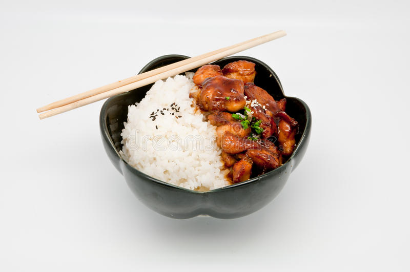 Riz de poulet de Teriyaki photo libre de droits