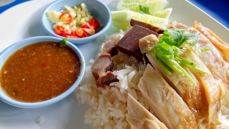 Riz de poulet de Hainanese images libres de droits