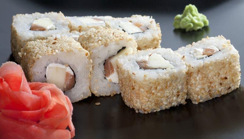 Riz de sushi japonais photo stock