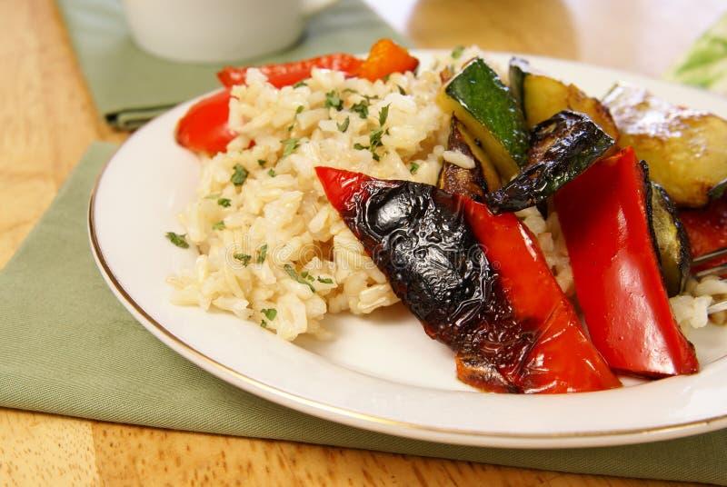 Riz et légumes photos stock