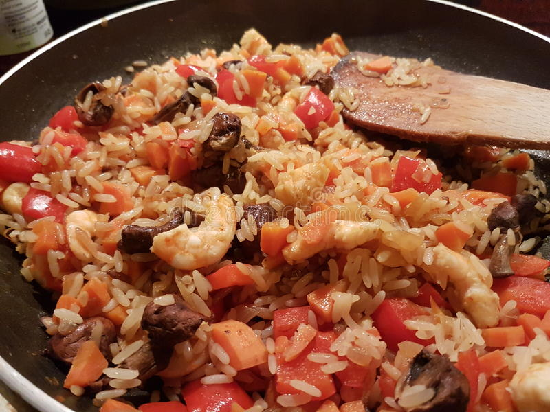 Riz et paprika image stock