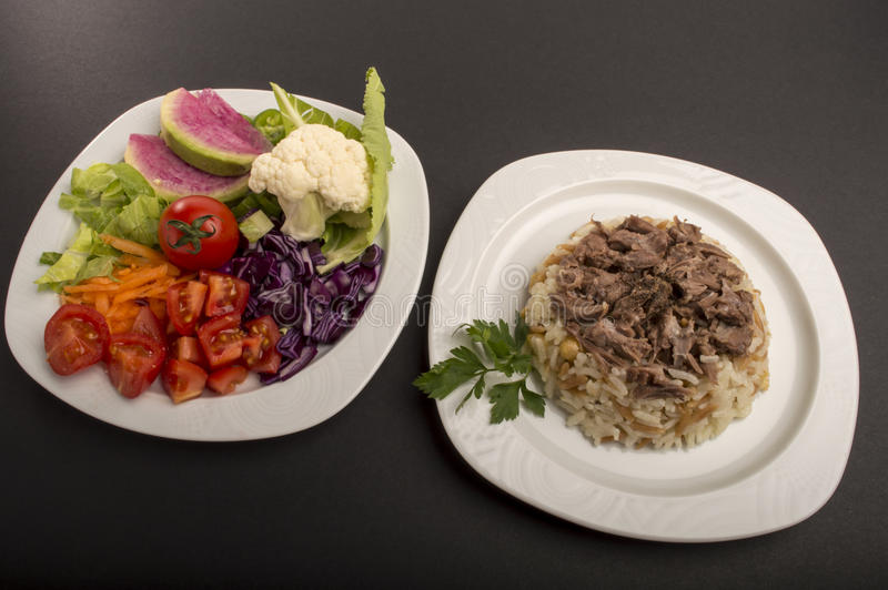 Riz et salades photos libres de droits
