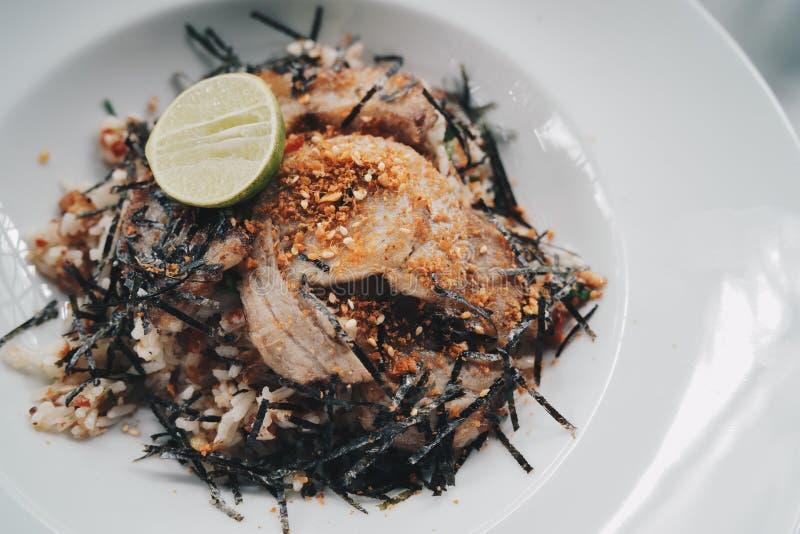 Riz frit avec du porc de Chasu photos stock