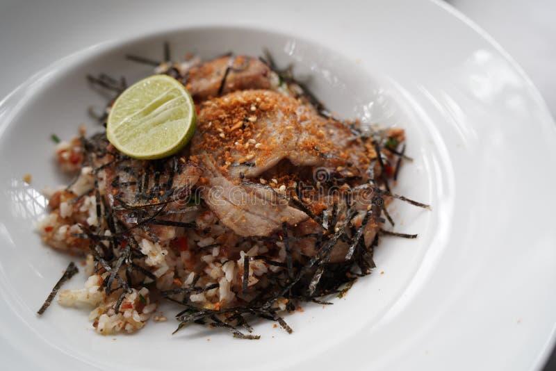 Riz frit avec du porc de Chasu photo libre de droits