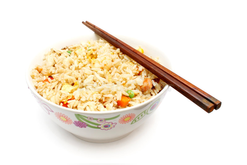 Riz frit chinois photo stock