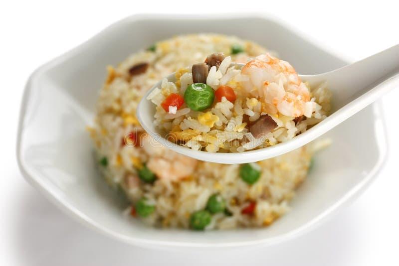 Riz frit, cuisine chinoise, type de yangzhou images libres de droits