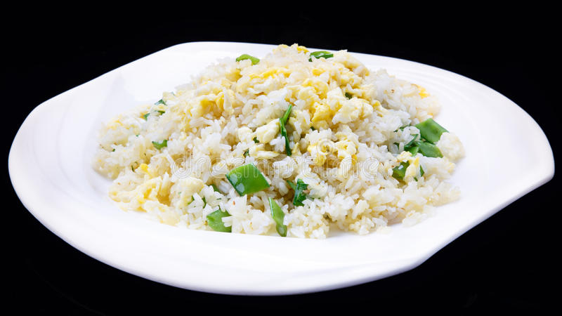 Riz frit, cuisine chinoise, type de yangzhou images stock