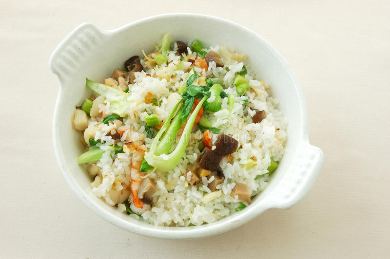 Riz frit dans le style de Changhaï image stock
