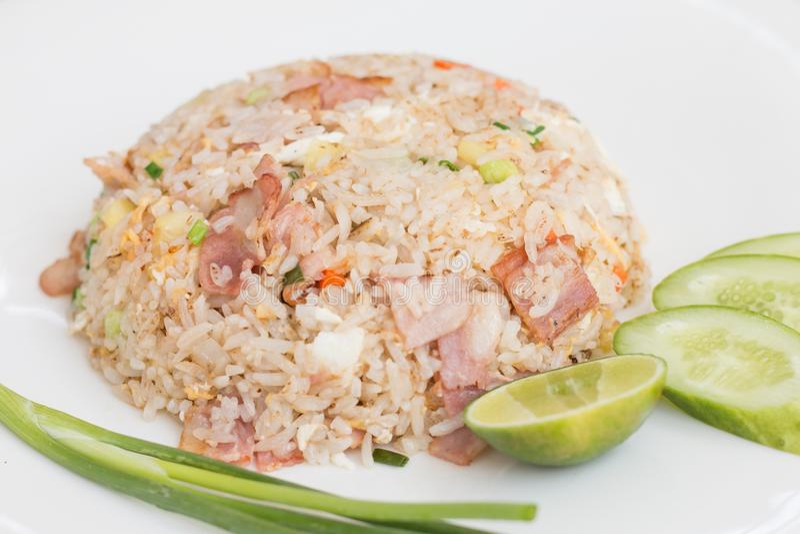 Riz frit thaï photographie stock libre de droits