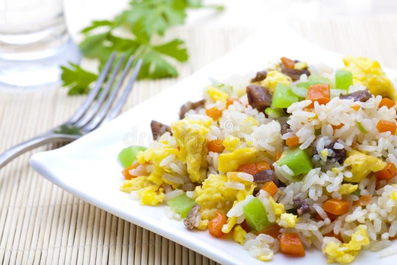 Riz frit végétal photographie stock