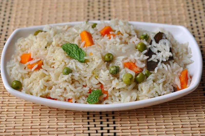 Riz frit végétal image stock
