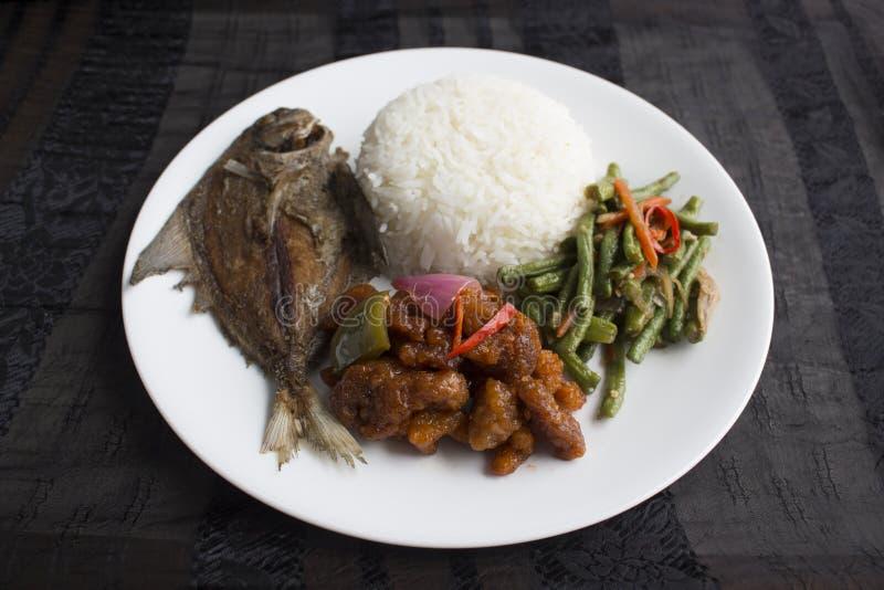 Riz mélangé de légumes de Singapour/de Malaisie photographie stock libre de droits