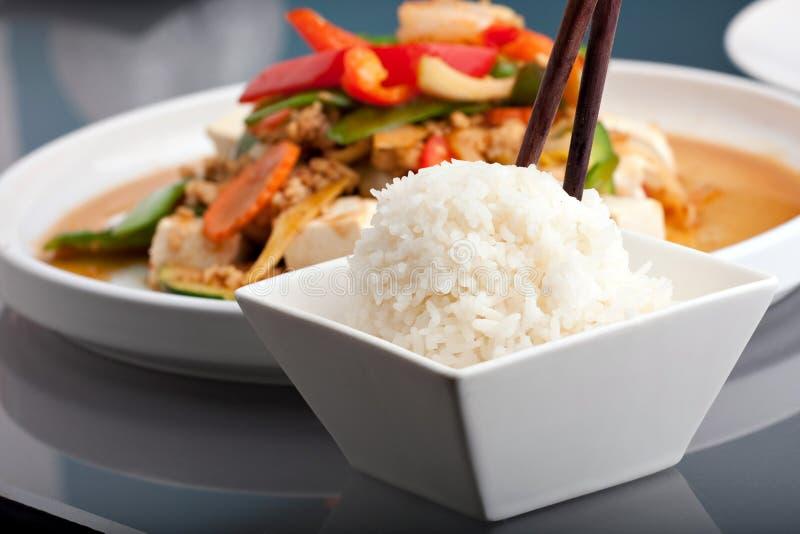 Riz thaï de nourriture et de jasmin photos stock