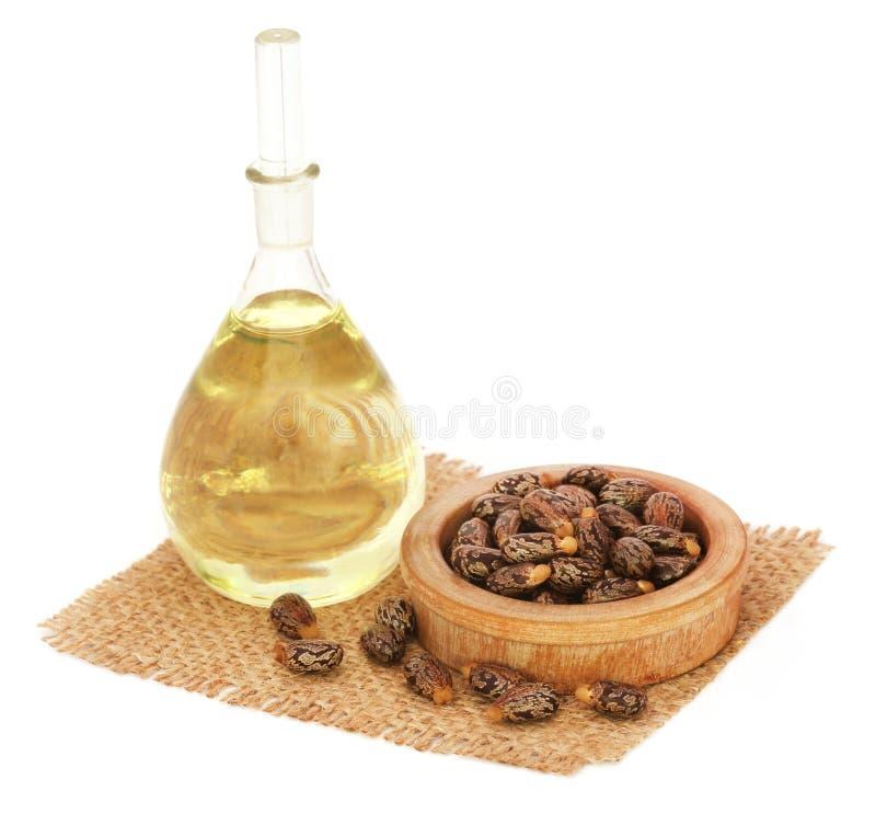 Rizinusöl mit Bohnen lizenzfreies stockfoto